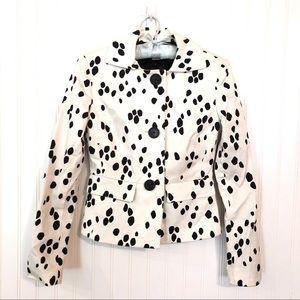 MICHAEL KORS Dalmatian Print Black & White Blazer